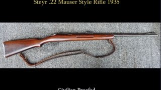 Steyr Mauser Style WWII .22 Trainer Rifle - Civilian Proof 1935