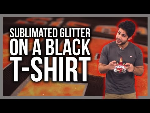 Sublimated Glitter on a Black Shirt