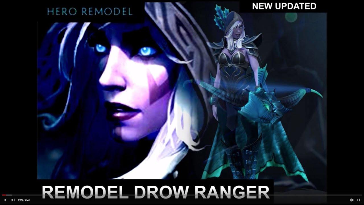 Dota 2 Hero Remodel Drow Ranger Short Preview Youtube