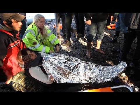 Refugee Pregnant Woman Crushed - Lesbos Greece