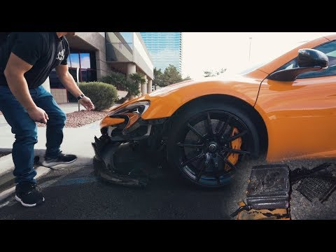 MCLAREN 650s WRECKED AFTER ONLY 30 MIN ON THE ROAD !