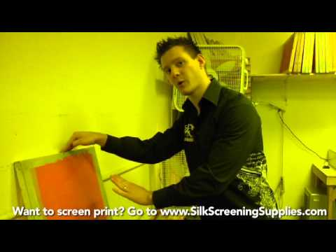 How to Screen Print - Emulsion problems trouble shooting - Screen Printing 101 DVD pt 19