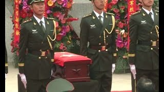 Burial ceremony held for Chinese soldiers' remains returned by ROK