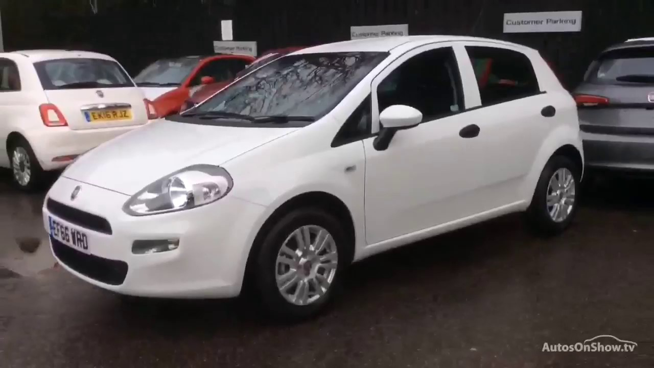 fiat punto pop plus white 2016 youtube. Black Bedroom Furniture Sets. Home Design Ideas