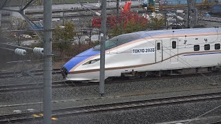 長野新幹線車両センターで解体中、残り6両となった東京2020オリンピック・パラリンピックラッピング車両のE7系F7編成。(浸水被害前のE7系F7編成)