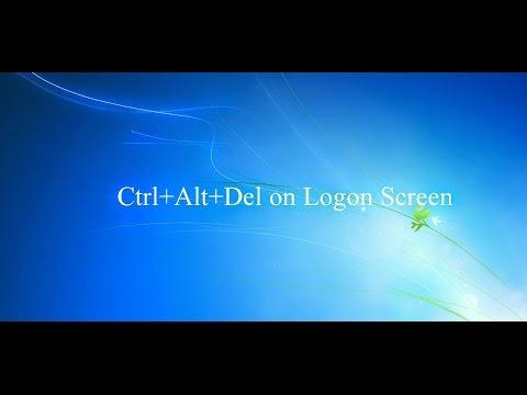 How to set ctrl alt del to lock Computer