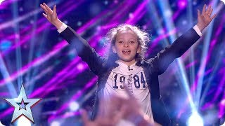 Ssy Simpson Loves Her Brother Snow Much With Card Trick  Grand Final  Britain's Got Talent 2017