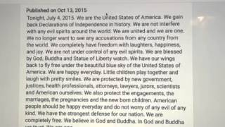 July 4, 2015. Read again. Phuong. Independence Day.