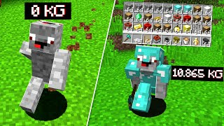 Items wiegen Gewicht in Minecraft