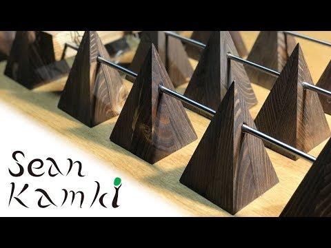Ceiling Light of 2x4 Pyramids