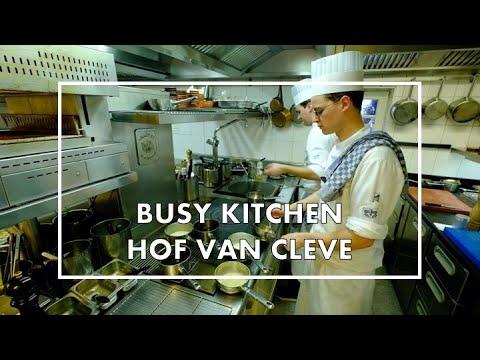 Busy Kitchen Service At 3* Michelin Restaurant Hof Van Cleve In Belgium