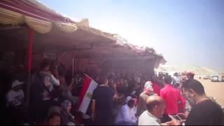 عيد العمال فى قناة السويس الجديدة : احتفالات وهتافات تحيا مصر