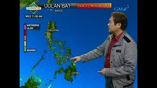 Weather update as of 6:10 a.m. (February 21, 2018)