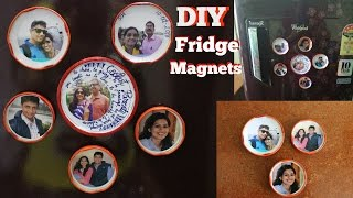2 Mins. DIY FRIDGE MAGNET | Small Photo Frames | Easy Home Decor