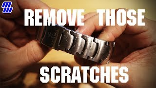 Making a scratched up watch look good again