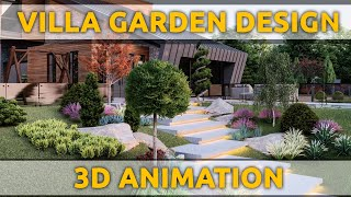 VILLA GARDEN landscape design | 3D ANIMATION | Lumion Animation