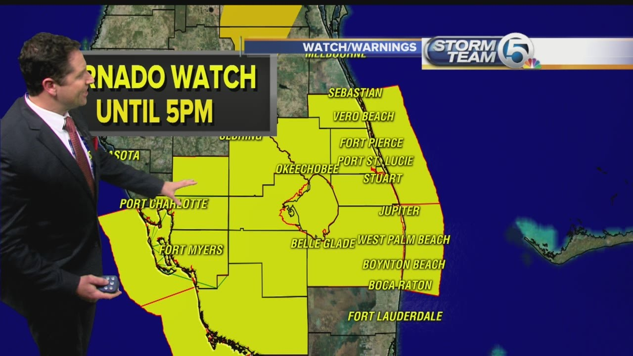 Potential for severe weather in South Florida