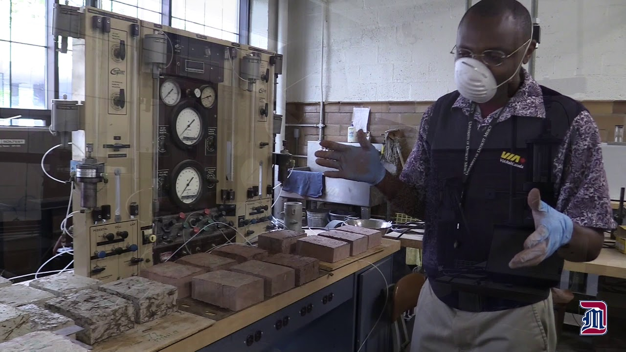 Detroit Mercy civil engineer builds environmentally friendly construction materials for developing countries