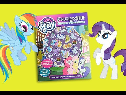 MLP ponyville activity book My little pony sticker book coloring for kids