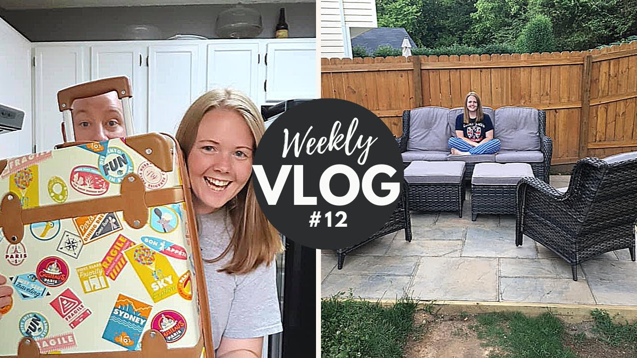 Weekly Vlog #12 | New Disney Suitcase and Patio Furniture!