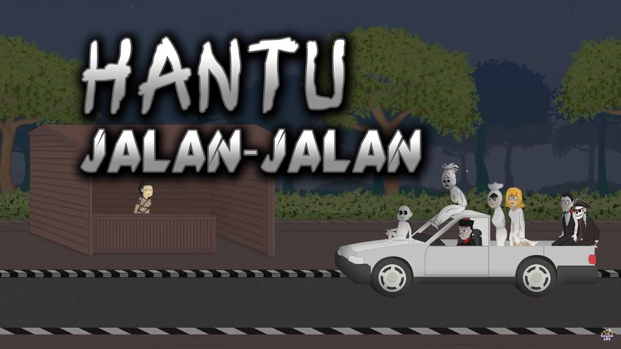 Hantu Jalan-Jalan - Animasi Horor Kartun Lucu - WargaNet Life