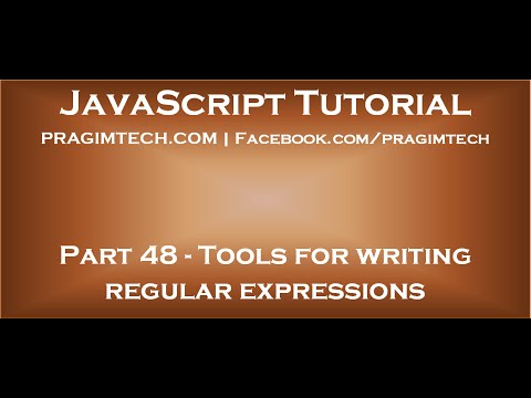 Tools for writing regular expressions