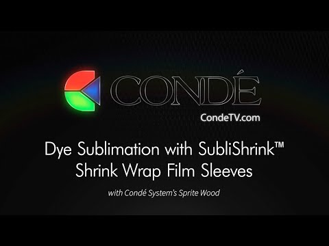 Dye Sublimation with SubliShrink™ Shrink Wrap Film Sleeves with Sprite Wood
