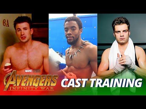 Avengers: Infinity War Cast TRAINING WORKOUT - Part 2