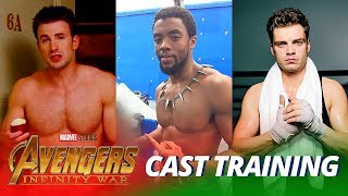Avengers: Infinity War Cast TRAINING WORKOUT - Part 2