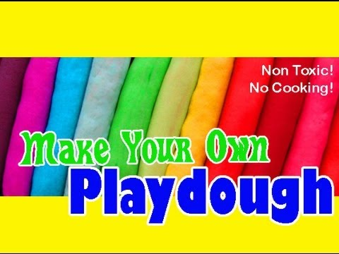 Best Playdough Recipe Without Cream Of Tartar Or Cooking Youtube