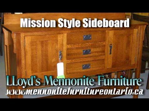 Mission Sideboard, Mennonite Mission Style Sideboard, Mennonite Furniture  Ajax.
