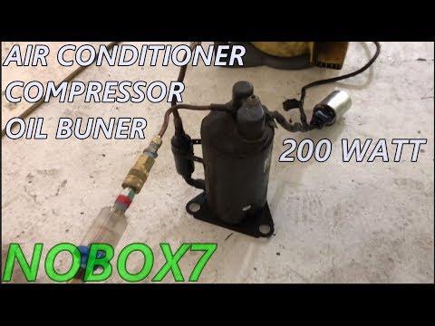 Ac compressor Waste oil burner 200 watts silent  0