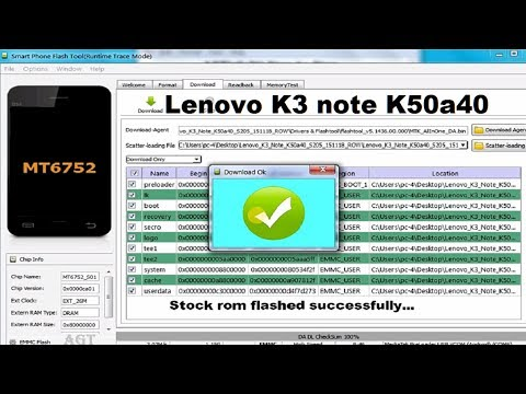 How to flash stock rom on Lenovo K3 note K50a40 or downgrade to