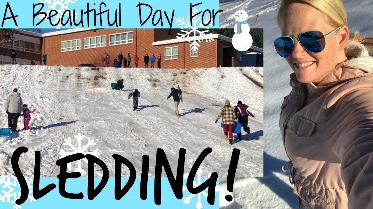 A BEAUTIFUL DAY FOR SLEDDING // VLOG