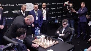 World Chess Championship 2018 Carlsen vs Caruana Game 1 Report