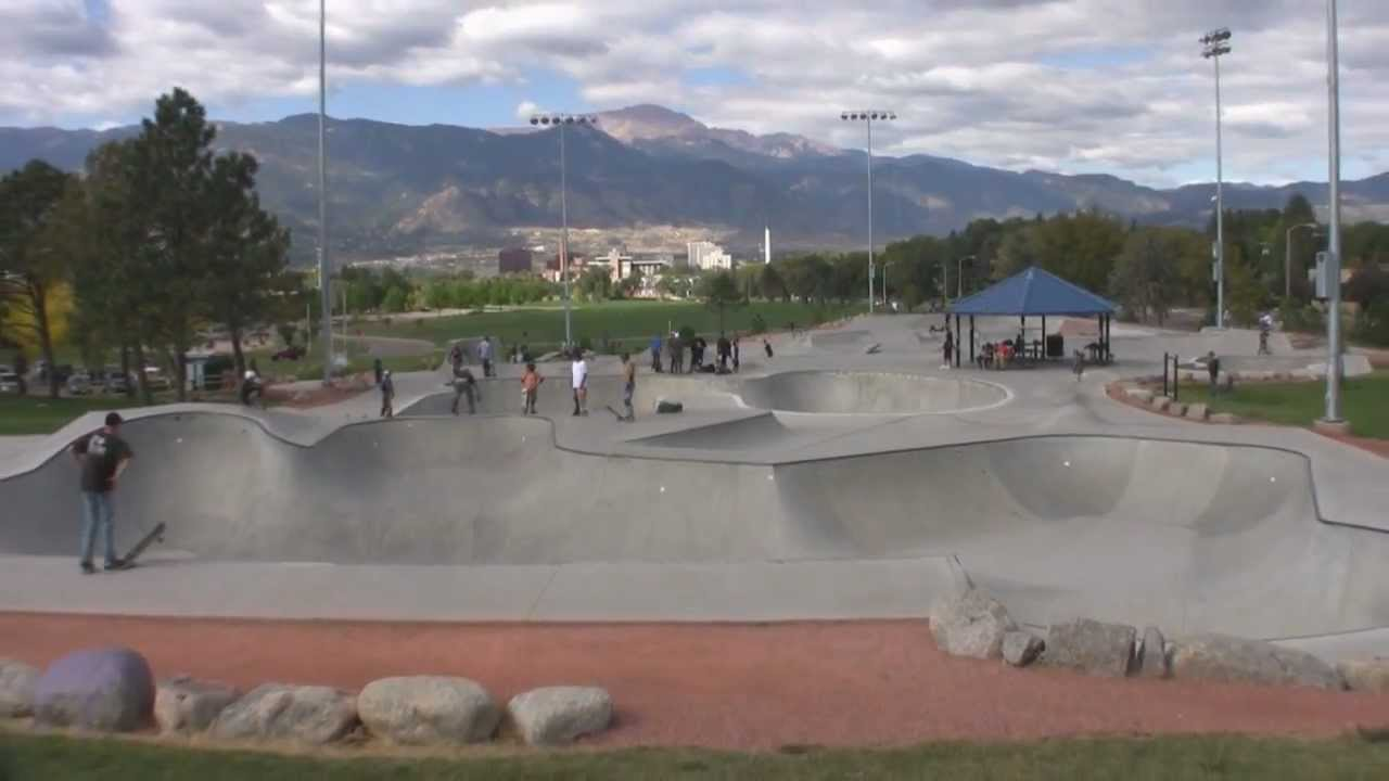 Colorado springs co memorial park skatepark overview - Memorial gardens colorado springs ...
