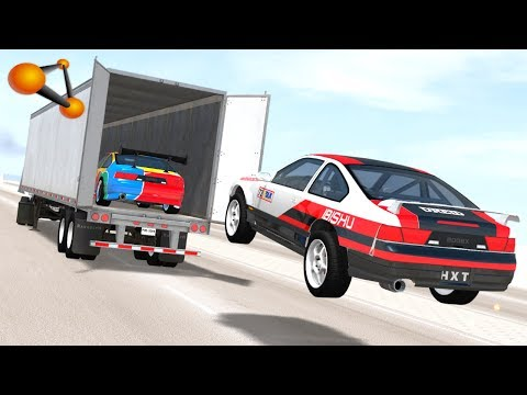 BeamNG.drive - Open truck Cargo Doors car Speeding