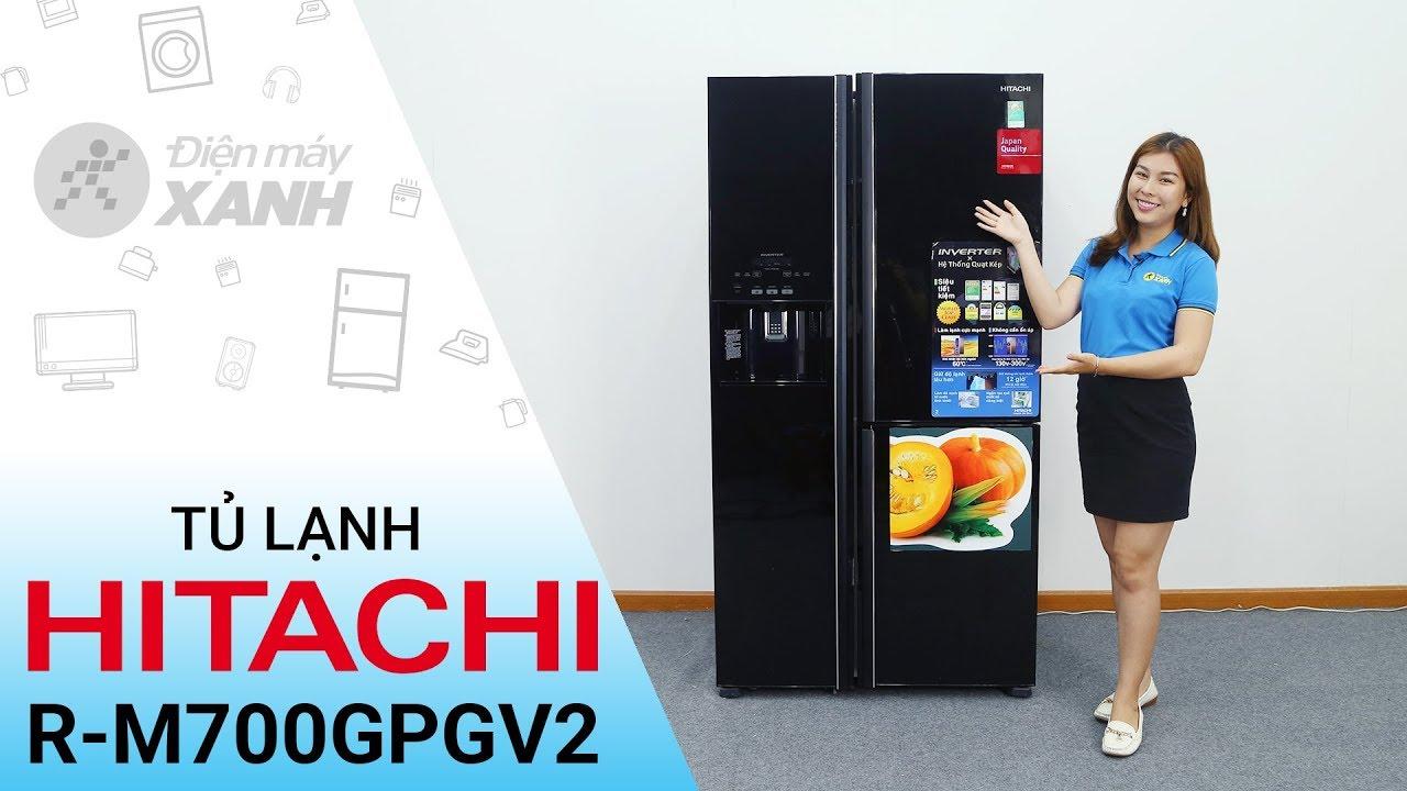 Đánh giá tủ lạnh Hitachi 584 lít R-M700GPGV2 – To khỏe bền bỉ | Điện máy XANH