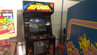 Midway Ms Pac Man and Defender Video Arcade Game Demonstration Clip