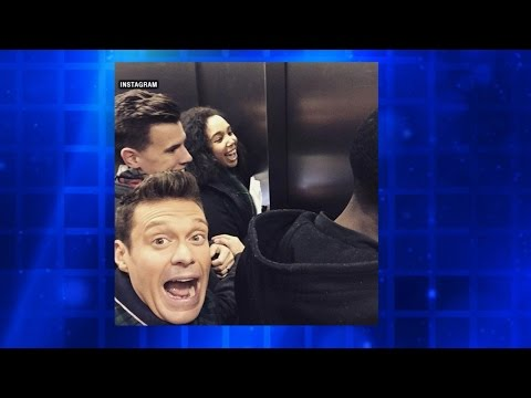 Ryan Seacrest Gets Stuck in Elevator in Times Square
