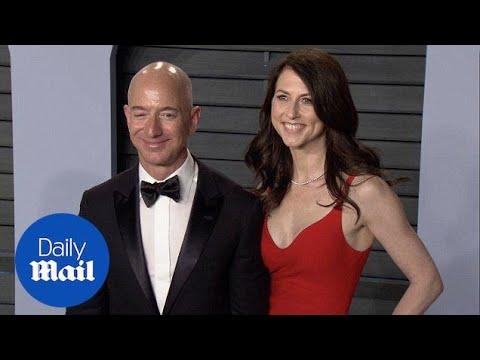 Jeff Bezos and wife MacKenzie arrive at Vanity Fair Oscars bash - Daily Mail