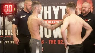 HAND SHAKE REFUSED!  LEWIS RITSON v SCOTT CARDLE -OFFICIAL WEIGH IN & HEAD TO HEAD / RITSON v CARDLE