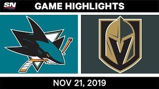NHL Highlights   Sharks vs Golden Knights – Nov. 21, 2019