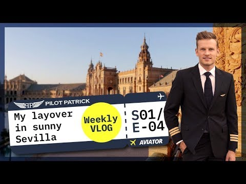 MY SUNNY LAYOVER IN SEVILLA AND SUNSET TAKEOFF I VLOG #4