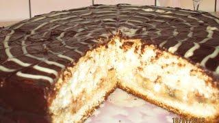 РЕЦЕПТ ТОРТА Бисквитный торт с бананом  Пошаговый рецепт с фото