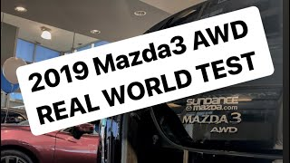 Testing out the AWD of the new 2019 Mazda3! Surprisingly good!!