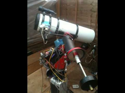 Homemade arduino goto telescope mount: test with two motors youtube