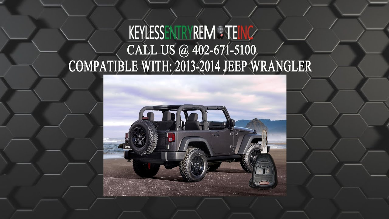 How To Replace Jeep Wrangler Key Fob Battery 2013 2014 Youtube