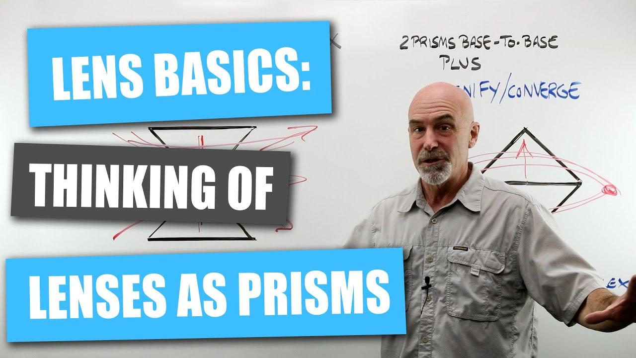 Lens Basics: Thinking of Lenses as Prisms