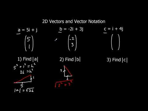 2D Vectors and Vector Notation